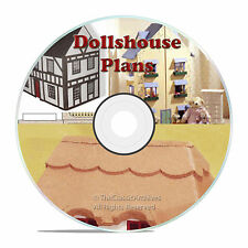 DOLLS HOUSE PLANS, CRAFTS, TOY PLANS, FURNITURE, TOYS, LEARN HOW TO BUILD ONE
