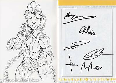 UDON 2006 SKETCHBOOK CAMMY SKETCH STREET FIGHTER SIGNED x6 COA (02)