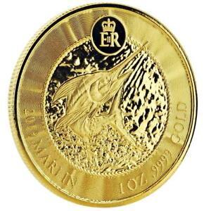 2019 1 oz Cayman Islands Marlin .9999 Gold Coin #A451