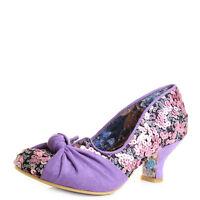 Womens Irregular Choice Dazzle Pants Pink Low Heel Court Shoes Sz Size