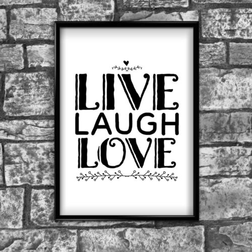 Laugh Motivational Inspirational Positive Thoughts Quote Poster Print Wall 67