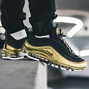 Details about Nike Air Max 97 QS Black Gold Size 7 8 9 10 11 12 13 Mens Shoes New AT5458 002
