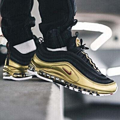 Nike Air Max 97 QS Black Gold Size 7 8 9 10 11 12 13 Mens Shoes New AT5458 002   eBay