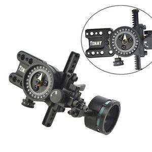 Compoundbogen-Sight-Bogenschiessen-Visier-1-Pin-Jagd-Micro-Adjustable-Len-Visier