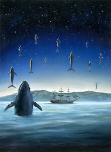 Strange-Seas-Flying-Whales-Fantasy-Art-Oil-Painting-by-Jeff-Ward