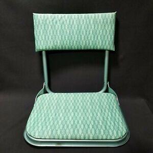 Vintage Folding Stadium Bleacher Seat Spring Hooks Green