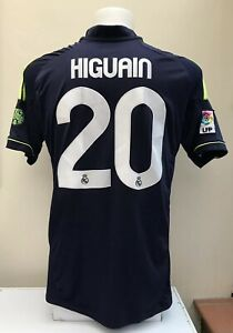 on sale 1854f 7e1d7 Details about Real Madrid Away Football Shirt Jersey HIGUAIN 20 2012 2013  Medium M Adults Bwin