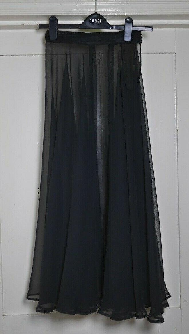 Girls Ladies Ballet Black Chiffon Sheer Circle Skirt size 27 inches