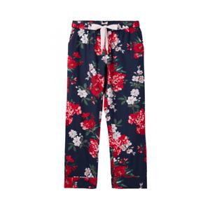Joules Snooze Femme Tissé Pyjama Bottoms-Bleu Marine Floral