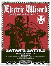 "ELECTRIC WIZARD ""N. AMERICAN TOUR 2015"" SEATTLE CONCERT POSTER -Doom Metal Music"