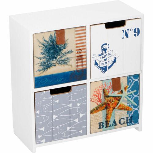 Nautik Ocean Strand Kommode Holz Schubladen Schmuck Aufbewahrung Organisation