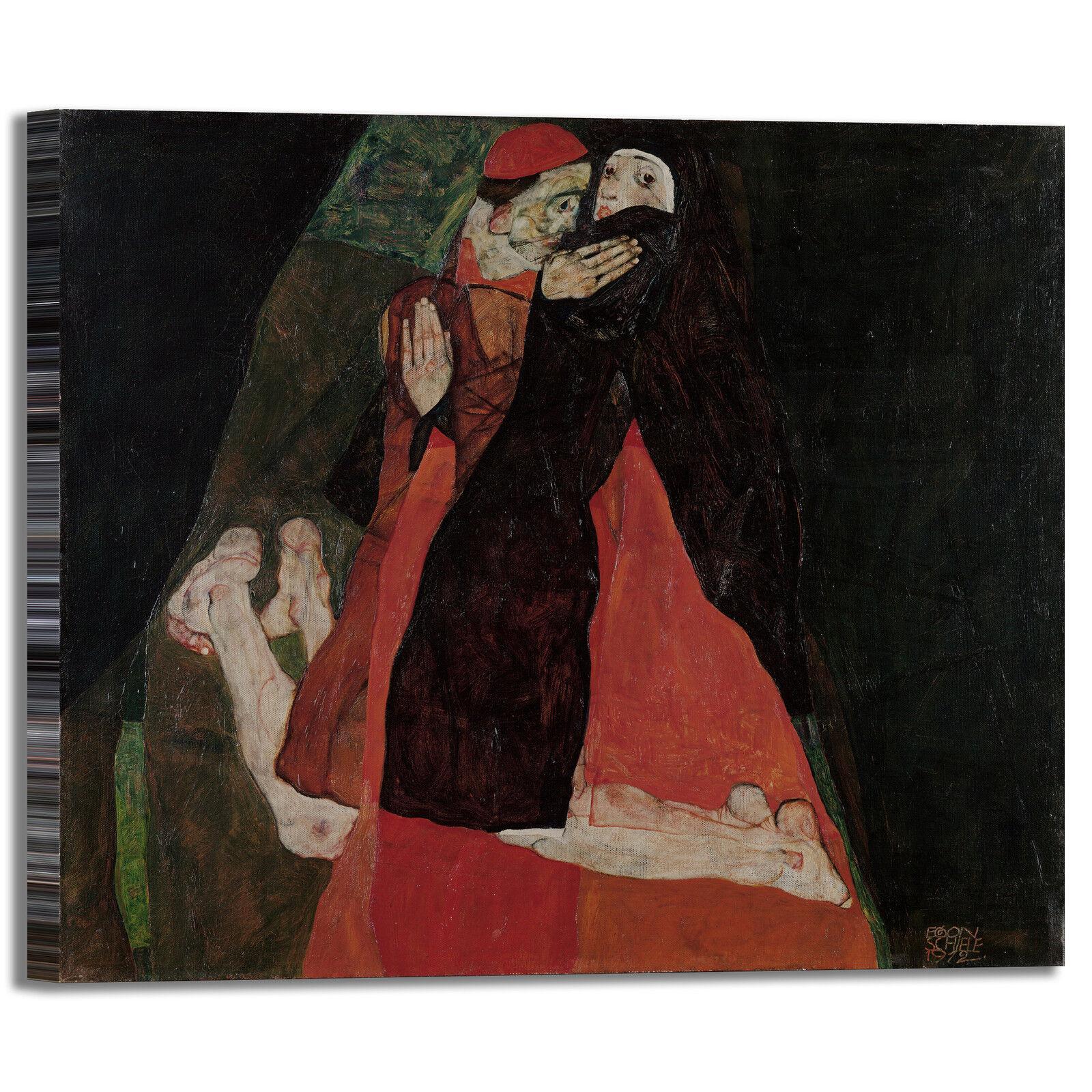 Schiele cardinale e design monaca design e quadro stampa tela dipinto telaio arRouge o casa 6f99e8