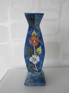Verlegen WunderschÖne Vase Mit Intarsien / Handarbeit / Asien Up-To-Date-Styling Unsicher Selbstbewusst Befangen Gehemmt