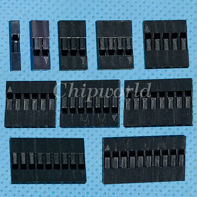 100pcs Dupont Head 2.54mm Plastic Shell Pin Head 1P 2P 3P 4P 5P 6P 7P 8P 9P 10P