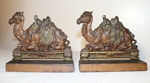 pair-of-high-quality-antique-figural-solid-cold-painted-cast-iron-camel-bookends