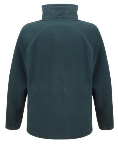 Mens Zip Up Fleece Jacket Lightweight Microfleece Long Sleeve Top
