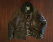 Rare LVC Levi's Vintage Made In Italy Distressed Leather Jacket Brown Men's M