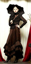 NEW Lip Service Steampunk Plaid Long Skirt Gothic Victorian Brown/Black XS