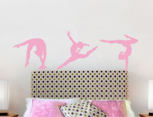 Details about Gymnastics wall stickers | Gymnast wall decals | Girls  bedroom wall stickers