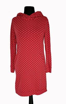 Hoody Pullover Kleid Longpulli Kapuze Taschen Punkte Rot ...