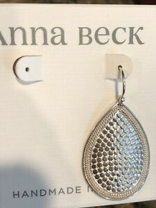 Medium-Teardrop-SINGLE-Earring-ANNA-BECK-Sterling-Silver