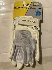 NWT Easton Hyperlite Women/'s Fastpitch Softball Batting Gloves WHITE Sz Medium