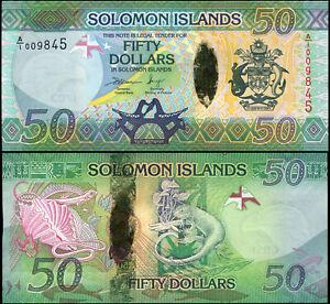 Salomonen 50 Dollars. Hybrid UNZ ND (2013) Banknote Kat# P.35a