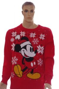 image is loading mens disney mickey mouse ugly christmas sweater party - Big And Tall Christmas Sweaters
