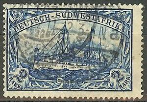 1911 German South West Africa 2 Mark Yacht issue used, Michel # 30 A, € 95.00