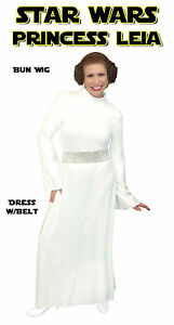Image is loading Star-Wars-Princess-Leia-Plus-Size-Halloween-Costume-  sc 1 st  eBay & Star Wars Princess Leia Plus Size Halloween Costume 1x 2x 3x 4x 5x ...