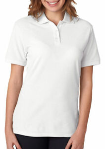 Jerzees-Women-039-s-Moisture-Wicking-Wrinkle-Resistant-Short-Sleeve-Polo-Shirt-537W