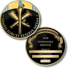 Armed Forces Reserve Medal - Engravable Challenge Coin