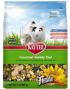 Kaytee-Gourmet-Variety-Diet-Rat-Mouse-Food-2-Lb-Free-Shipping-in-USA