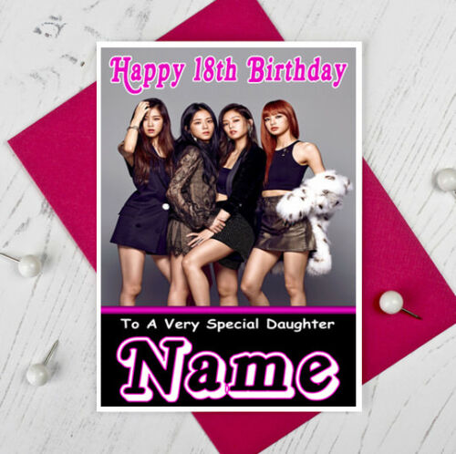 BLACKPINK Personalised Birthday Card! ANY NAME / AGE / RELATION KPOP 1