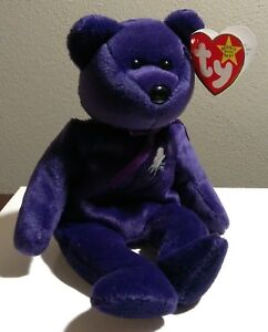 98660d51fc4 Ty Beanie Baby ~ PRINCESS Diana Bear from 1997 RARE RETIRED MINT ...