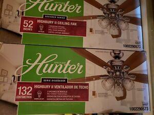 Hunter Highbury II 52 in. LED Indoor Brushed Nickel ...