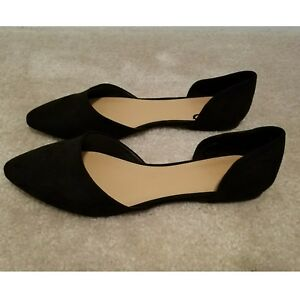 Image is loading Forever-21-Black-Faux-Suede-Flats-Size-8 e62e3abf47