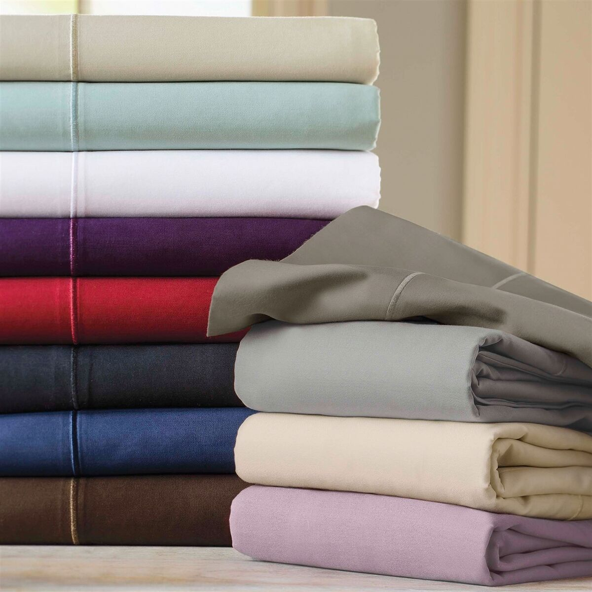 1000 TC EGYPTIAN COTTON BEDDING COLLECTION IN ALL SETS, COLORS AND SIZE