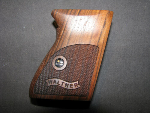 Walther PPK Fine English Walnut Pistol Grips w/Logo f/German-Made PPK ONLY-NICE!