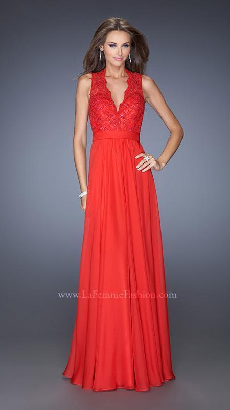 450 NWT RED LA FEMME PROM PAGEANT FORMAL DRESS GOWN 20109 SIZE 4