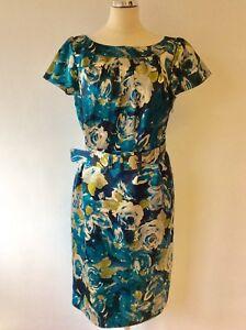 Floral Sleeve 14 Laura con Cap Print vestito Ashley cintura taglia 1w55qISx