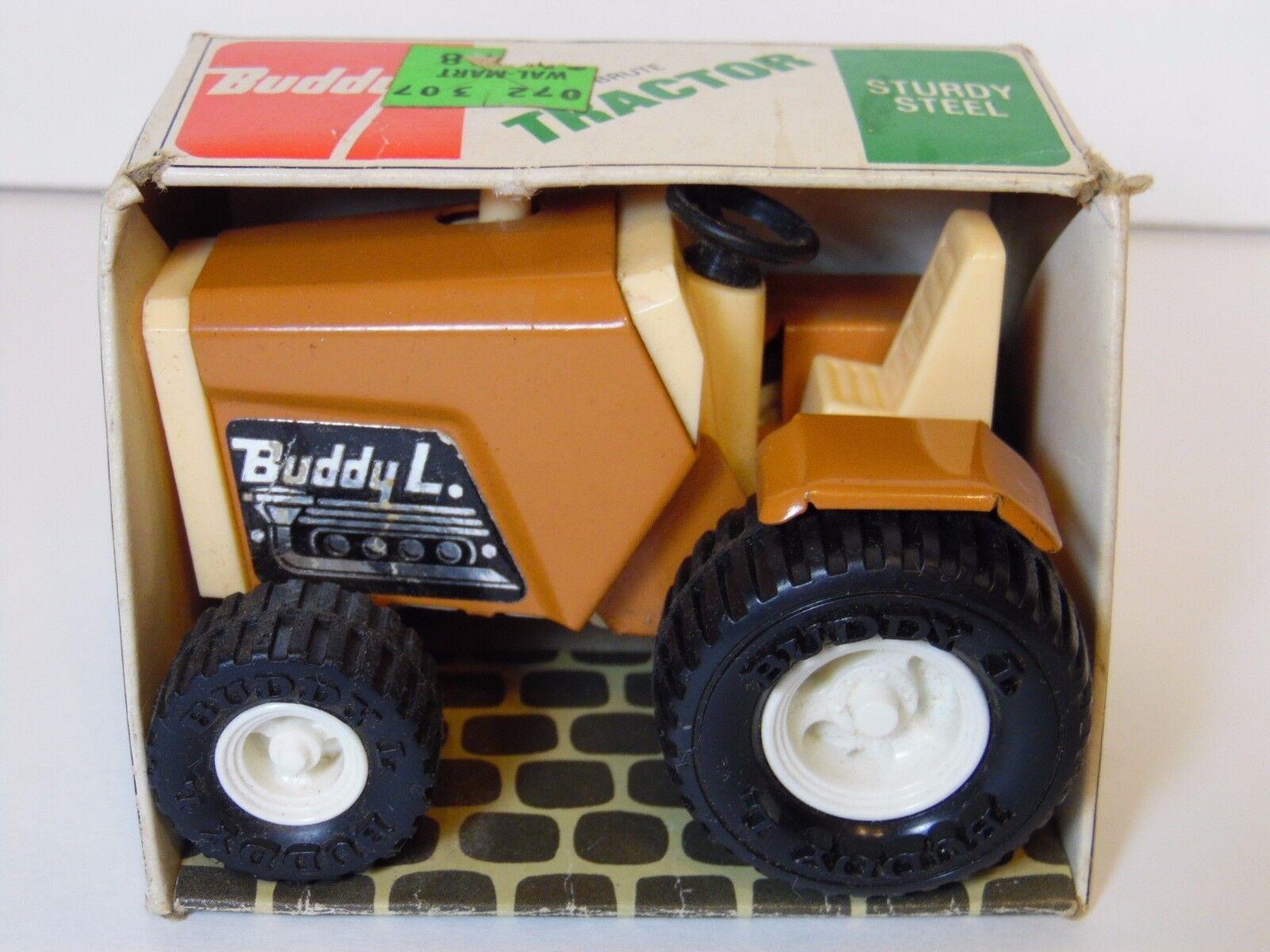 OLD VINTAGE 1970s BUDDY L STURDY STEEL BRUTE TRACTOR FARM TOY 4926 ORIGINAL BOX