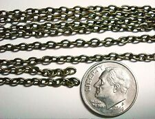 3 foot length Bronze Plated 3.5 x 3mm Cable Link Chain 12 links per inch PCH018