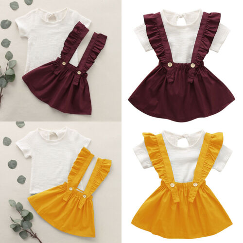 Kids Baby Girls Outfits Tops Bids Dress Kids Summer Party Skirt Toddler Clothes
