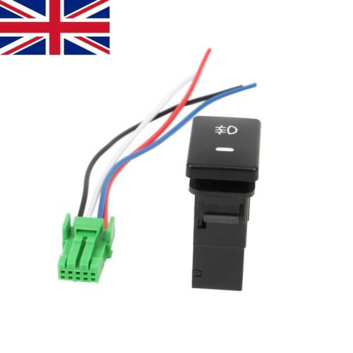 DC12V Rear Fog light Push Switch 4 Wire Button For Prius Toyota Corolla Camry