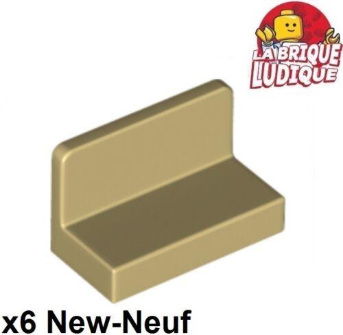 6x Panel Panneau 1x2x1 Rounded Corners beige//tan 4865b NEUF Lego