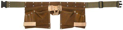 11 Pocket Handyman Apron Belt Brown Suede Leather McGuire Nicholas 1499