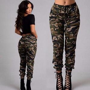 damen camouflage hose skinny h fthose r hre armee milit r stretch pants cargo hj ebay. Black Bedroom Furniture Sets. Home Design Ideas