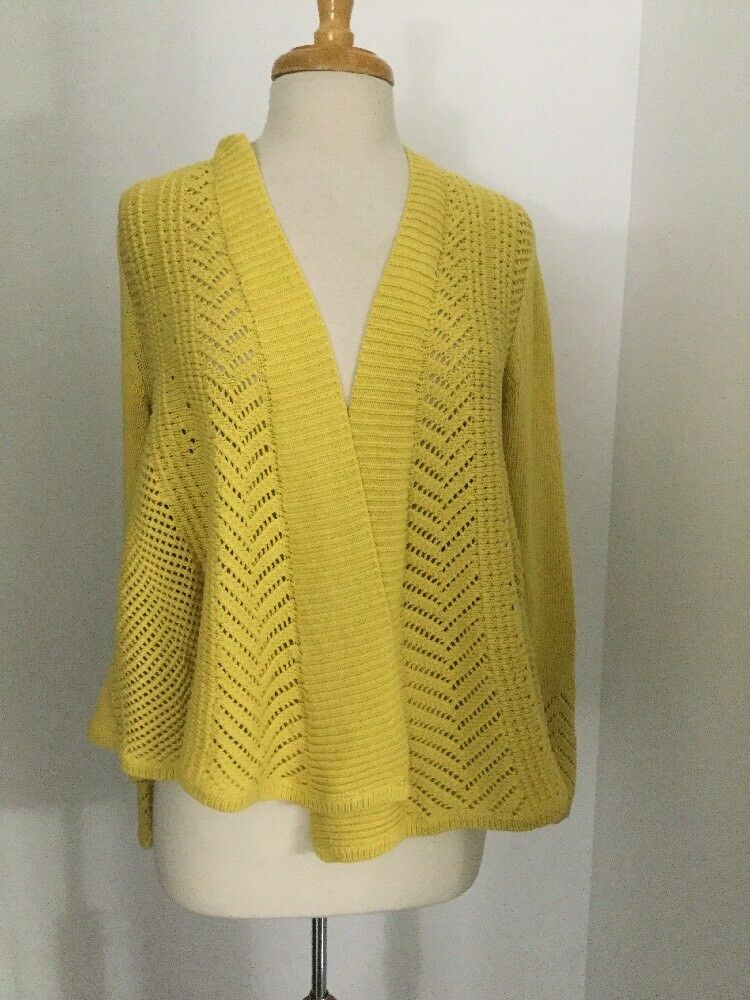 e457be664a6a1d NWT Anthropologie Nansen Pointelle Cardigan Size Large in Yellow ...