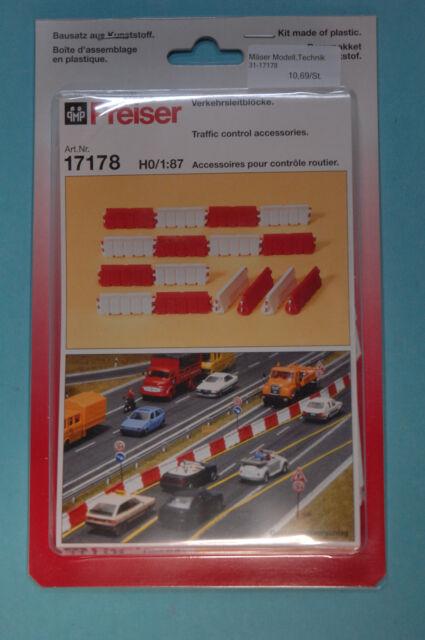 Preiser 17178 Verkehrsleitbloecke Kit de montage HO 1:87 NEUF